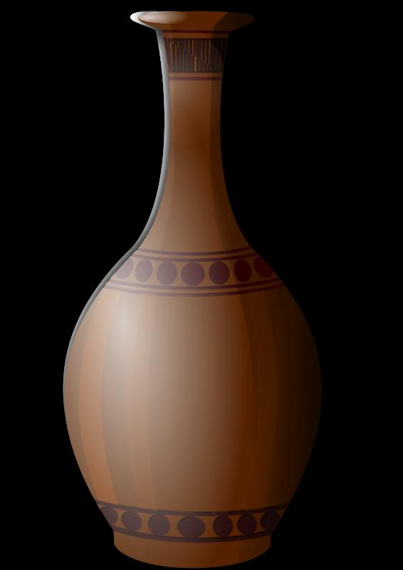 Free Brown Vase Clip Art.