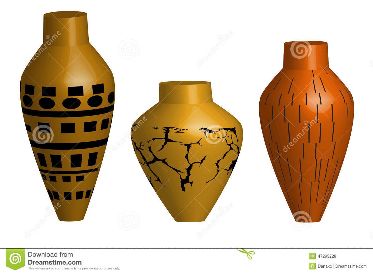 Ceramic Vase Illustration Stock Illustration.