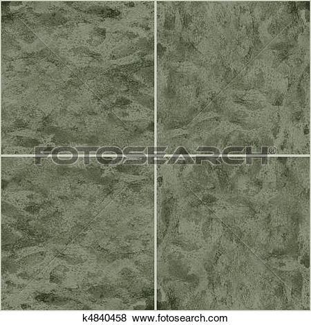Stock Illustration of Ceramic Flooring Tiles as Seamless k4840458.
