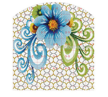 Puzzle Picture Ceramic Crystal Pattern Mural Clipart Design.
