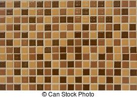 Stock Images of Ceramic tiles texture. Beige mosaic ceramic tiles.