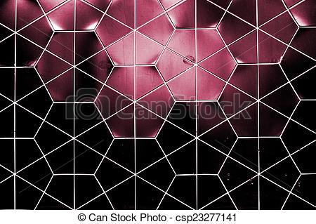 Stock Photo of Hex ceramic wall.