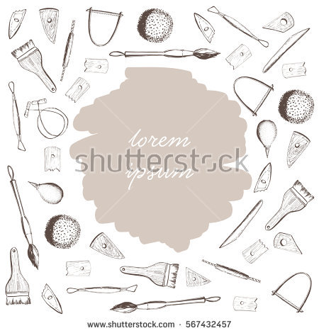 Pottery Stock Images, Royalty.