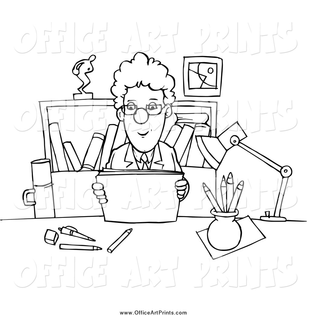 office adminstator coloring pages - photo#4