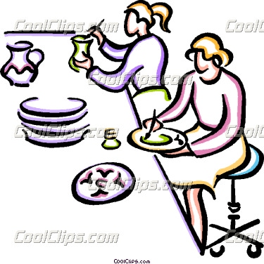 Pottery painting clipart.