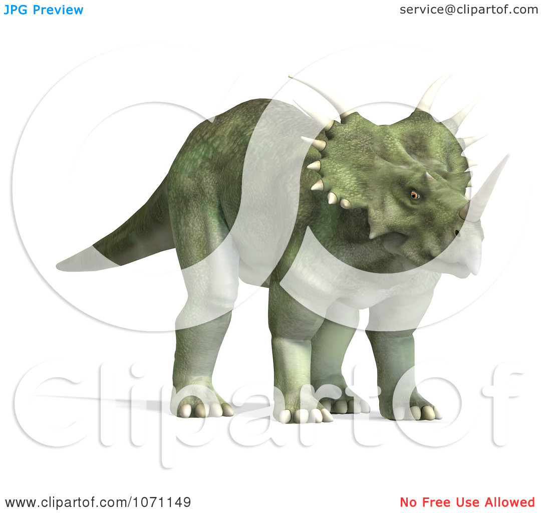 Clipart 3d Prehistoric Ceratopsian Styracosaurus Dinosaur 9.