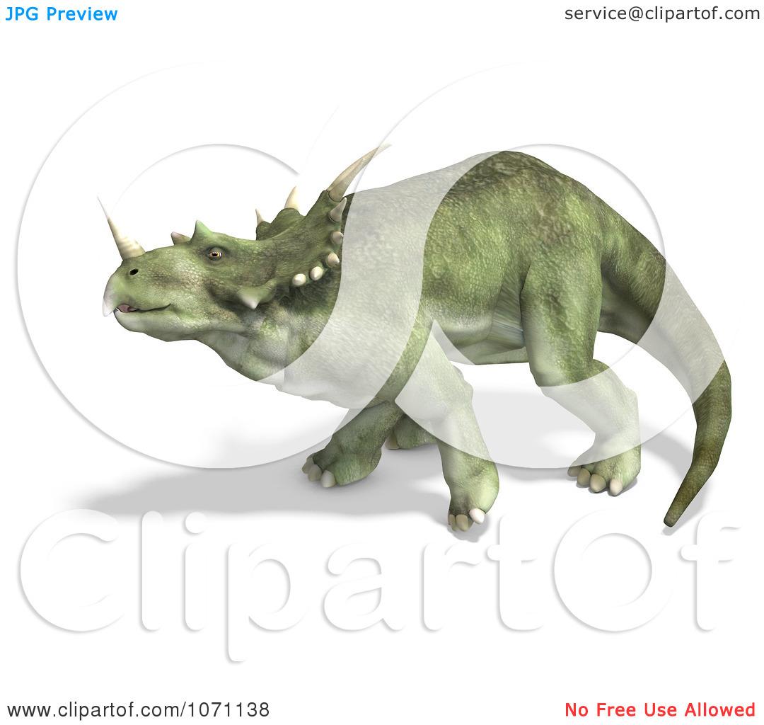 Clipart 3d Prehistoric Ceratopsian Styracosaurus Dinosaur In.