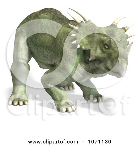 Clipart 3d Prehistoric Ceratopsian Styracosaurus Dinosaur 1.