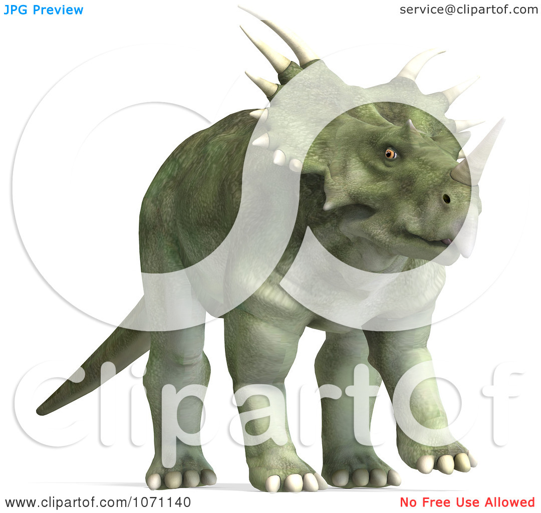 Clipart 3d Prehistoric Ceratopsian Styracosaurus Dinosaur 6.