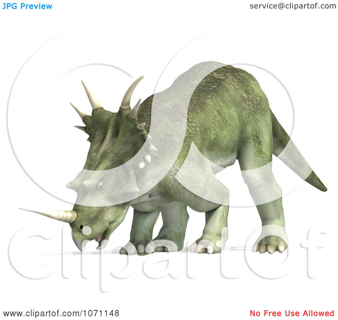 Clipart 3d Prehistoric Ceratopsian Styracosaurus Dinosaur 12.