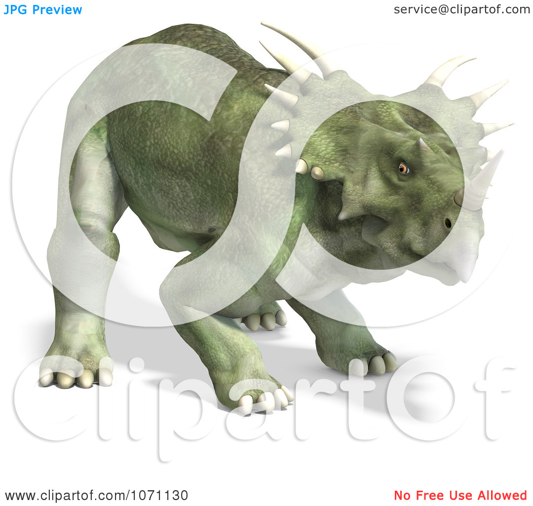 Clipart 3d Prehistoric Ceratopsian Styracosaurus Dinosaur 5.