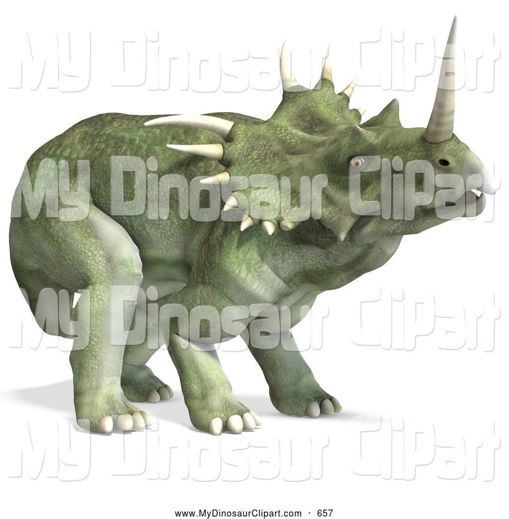Royalty Free Stock Dinosaur Designs of Ceratopsians.