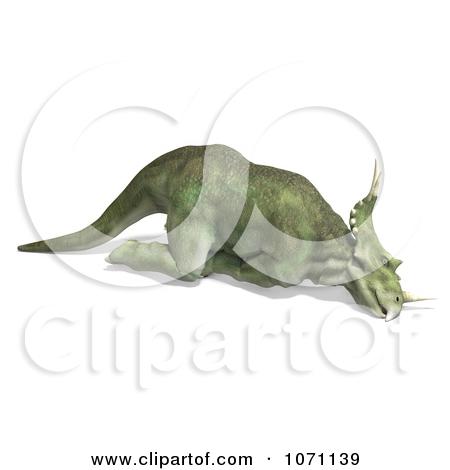 Clipart 3d Prehistoric Ceratopsian Styracosaurus Dinosaur Dying 2.