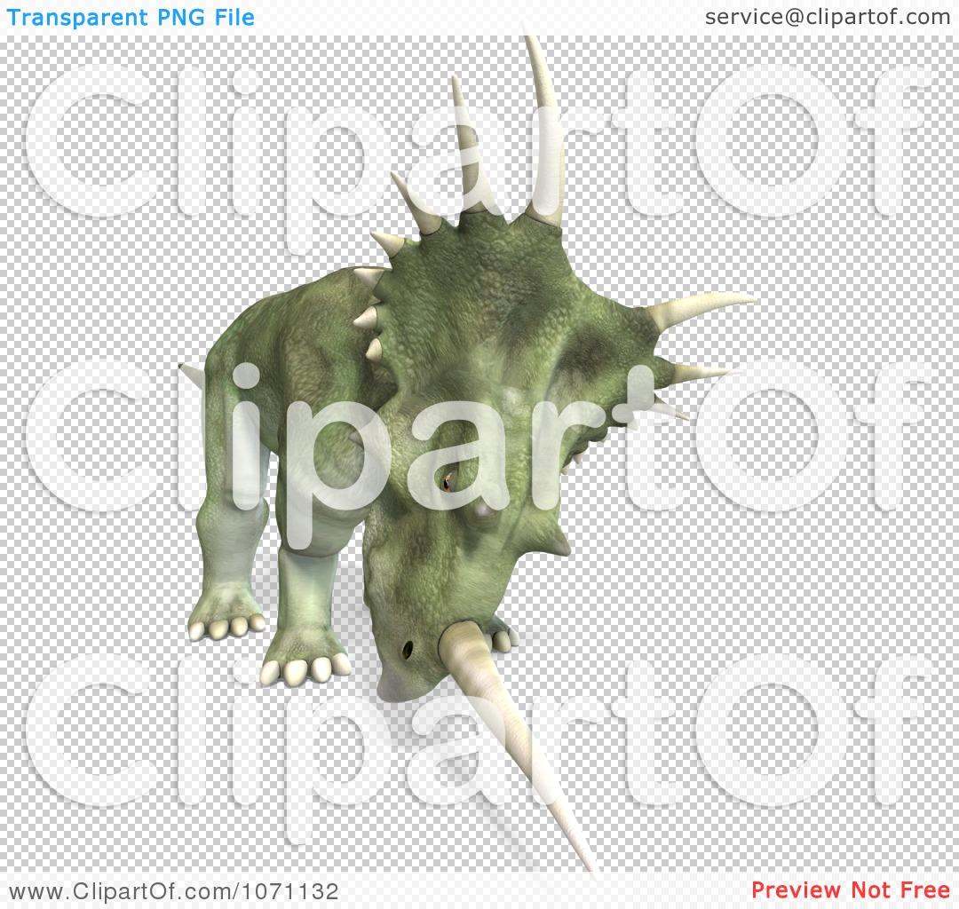 Clipart 3d Prehistoric Ceratopsian Styracosaurus Dinosaur 10.