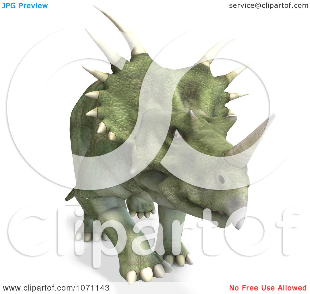 Clipart 3d Prehistoric Ceratopsian Styracosaurus Dinosaur 4.