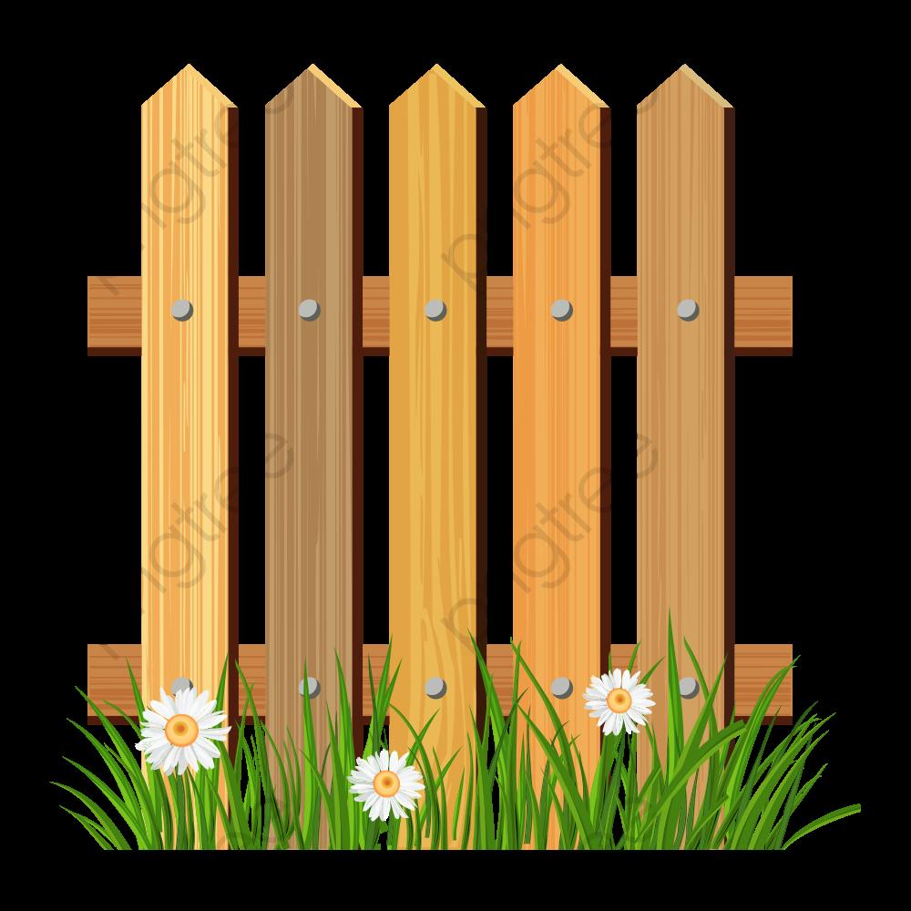 Fence, Barrier, Cartoon Fences, Wooden Fence PNG Transparent Image.