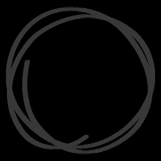 Hand drawn circle scribble icon.