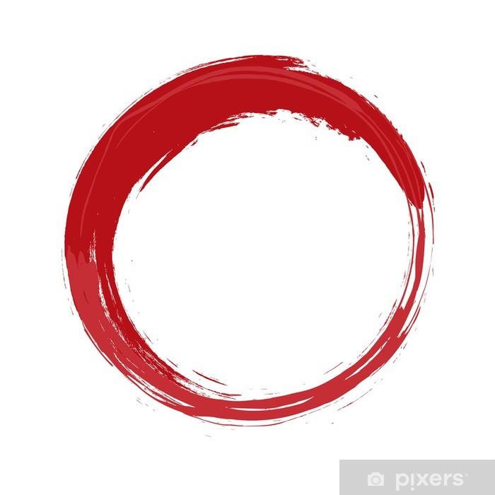 Papier peint Cercle rouge peint.