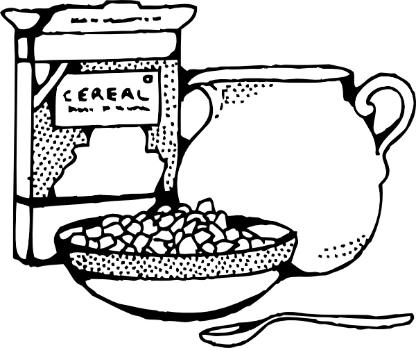 Cereal Box And Milk clip art Free vector in Open office.