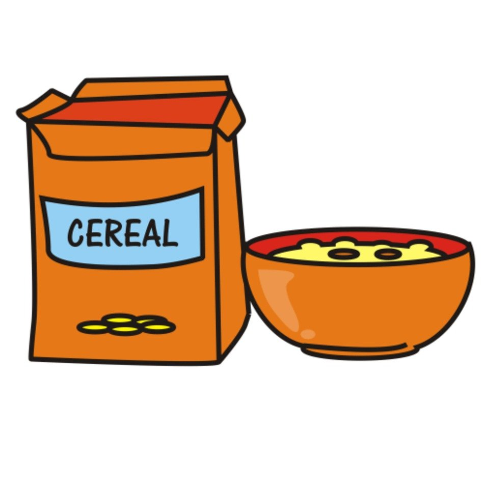 Cereal And Milk Clip Art Free free image.