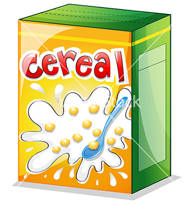 Cereal Box Clipart.