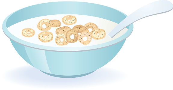 Clipart of cereal bowl.