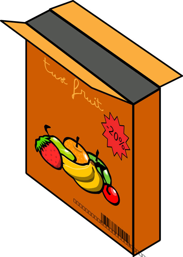 Cereal Box Clipart, vector clip art online, royalty free design.