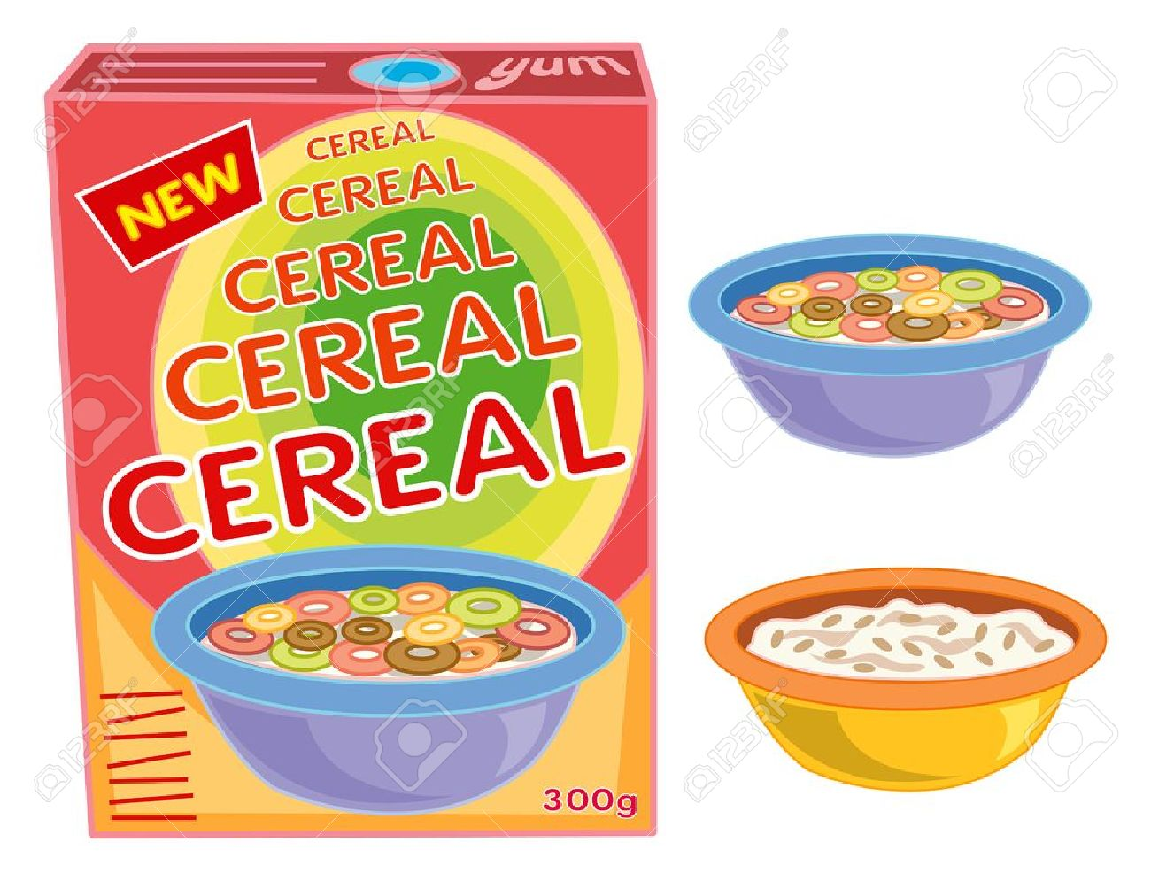 Clipart Cereal Box.