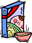Blank cereal box clipart.