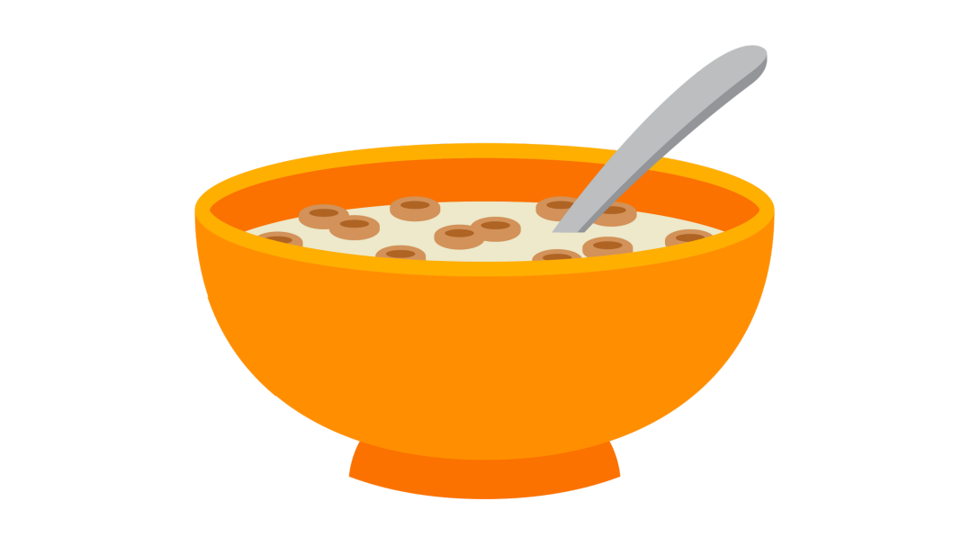 Cartoon Bowl Of Cereal Clipart.