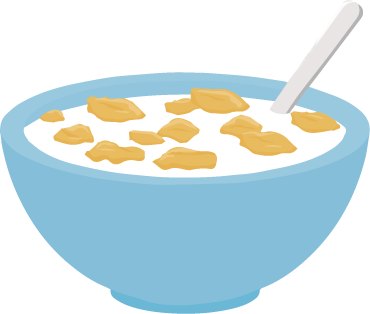 Image result for bowl of cereal clipart.