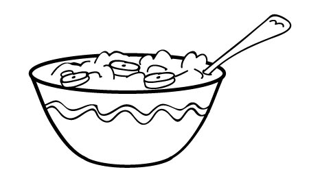 Pictures Of Cereal Bowls Cliparts.