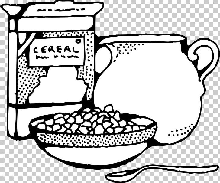 Breakfast Cereal Milk Corn Flakes PNG, Clipart, Area, Black And.