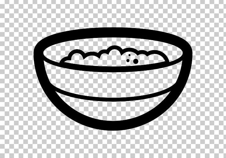 Porridge Breakfast Cereal Bowl PNG, Clipart, Black And White, Bowl.