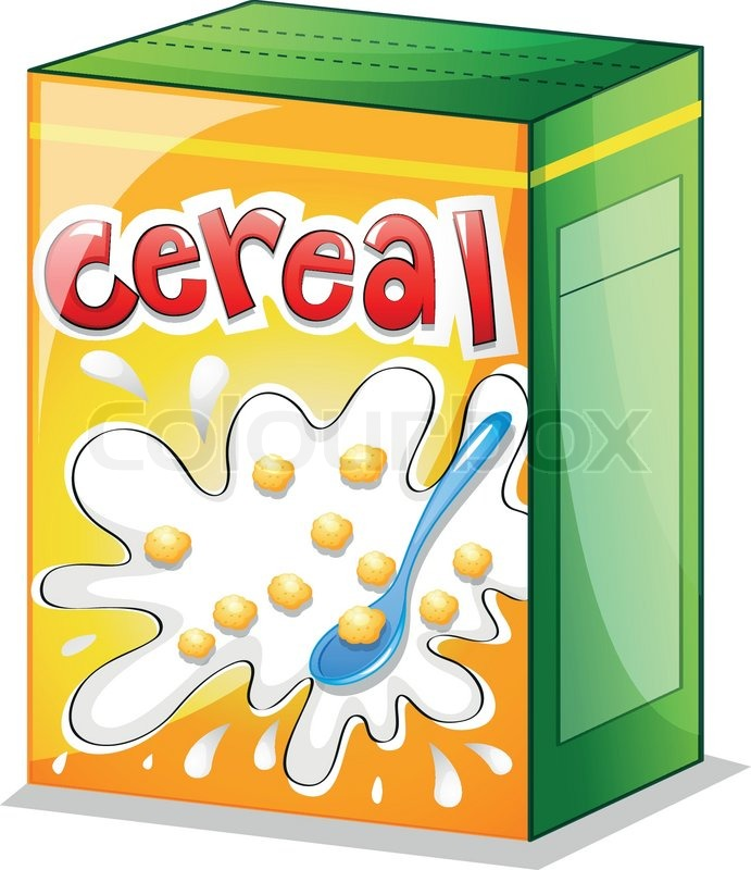 Illustration of a cereal on a white.