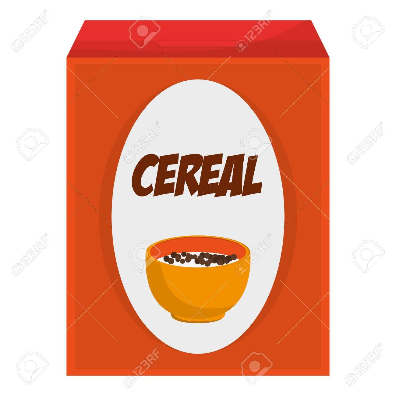 flat design cereal box icon vector illustration.