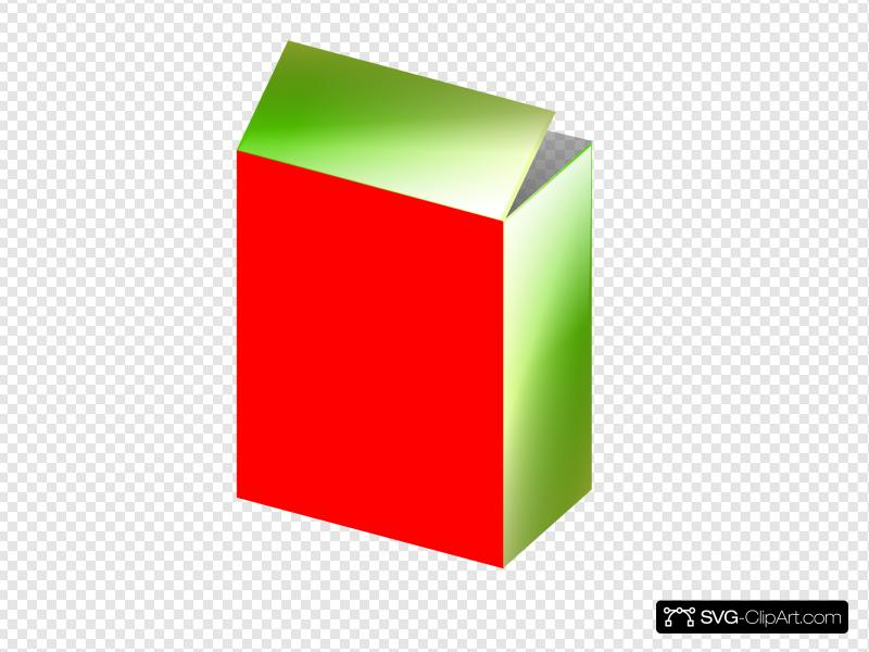 Red Green Cereal Box Clip art, Icon and SVG.