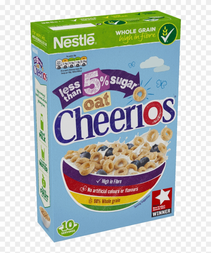 Less Than 5% Low Sugar Oat Cheerios Cereal Box.