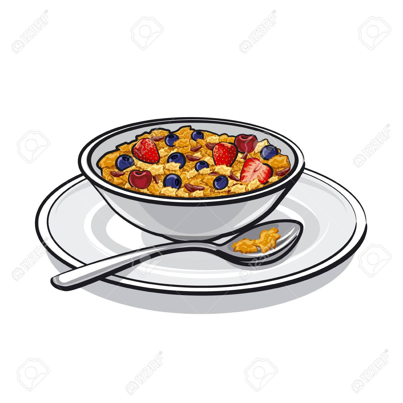 Breakfast Cereal Cliparts.