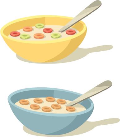 Breakfast cereal clipart.