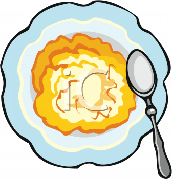 Bowl of Hot Cereal Clip Art.