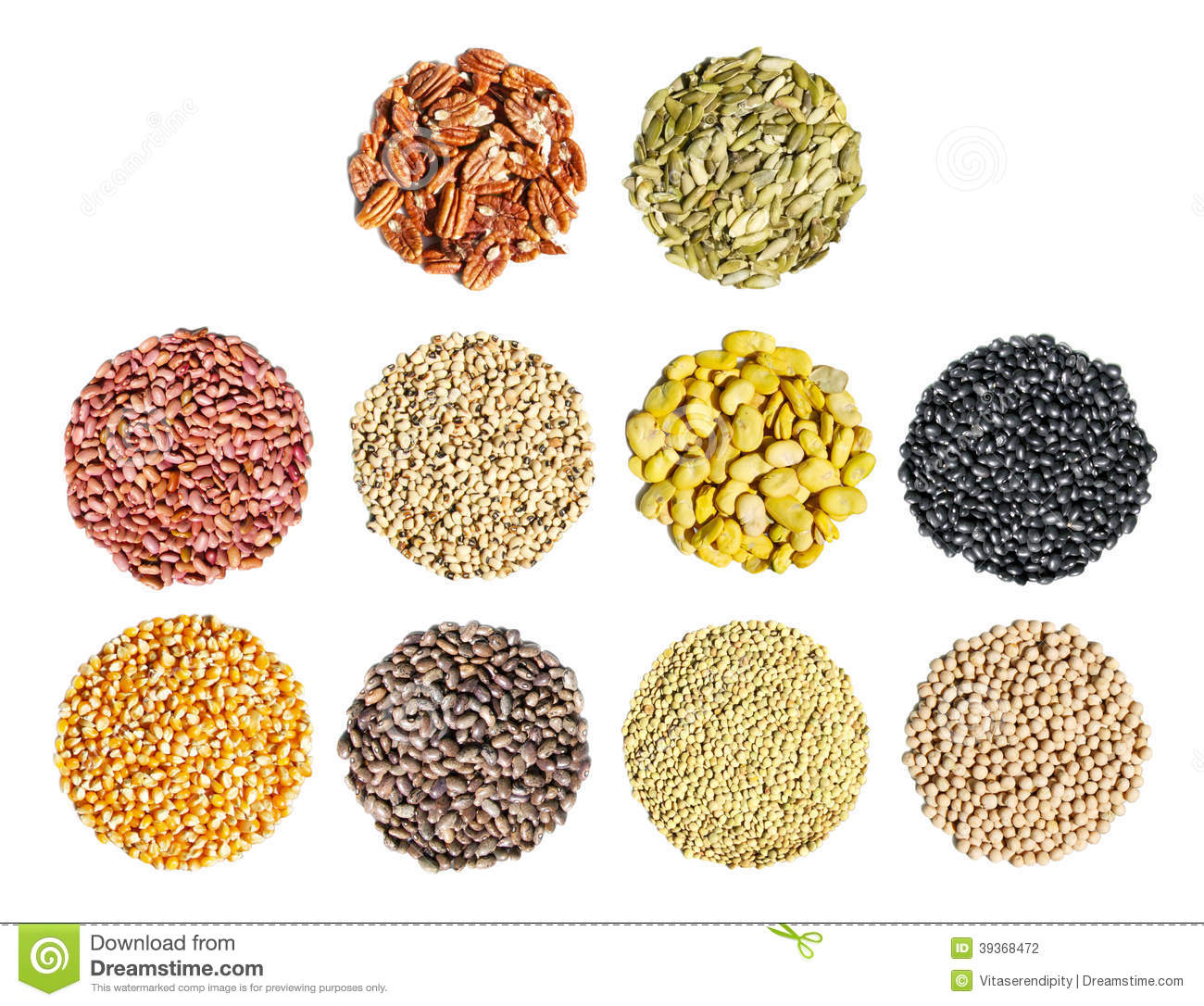 Various Cereal Grain Royalty Free Stock Image.