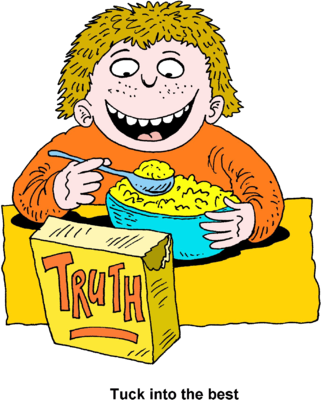 Eating Cereal Clipart.