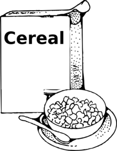 Cereals clipart to color.