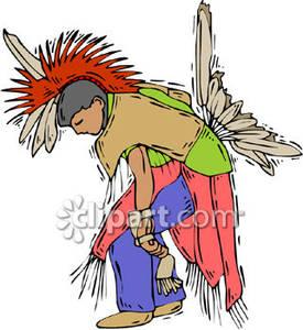 Native American Dancers Clipart.