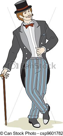 Vector Illustration of Man in a suit.