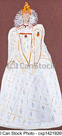 Stock Image of dress of english Queen.