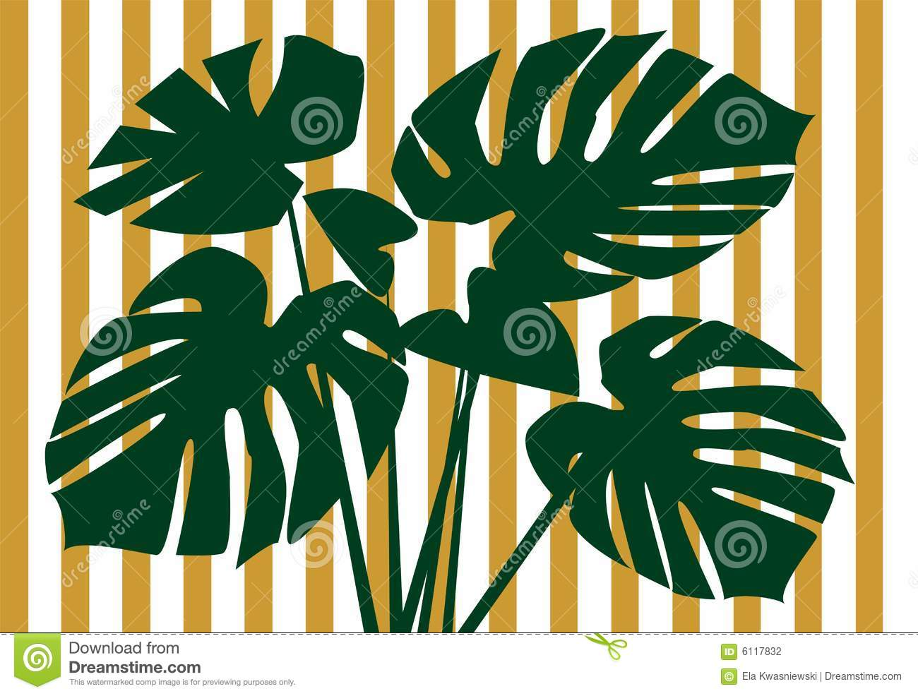 Monstera Deliciosa Floral Background Stock Photography.