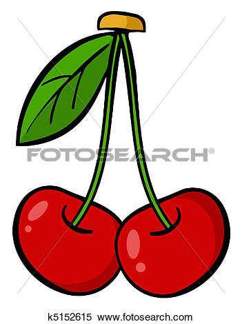 Clipart of Red Cherry k5152615.