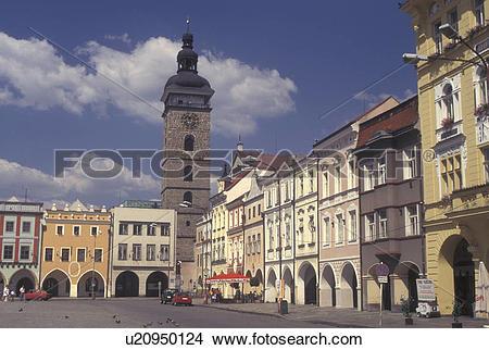 Stock Photo of Czech Republic, Ceske Budejovice, Budweis, Southern.
